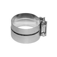 "TRP Exhaust Clamp 5"" Flat Band Chrome"