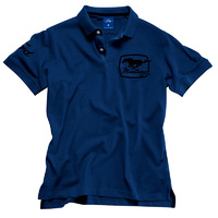 Ford Mustang Blue Polo Shirt